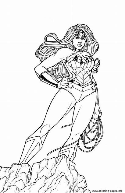 Wonder Woman Coloring Pages Printable Superhero Adult