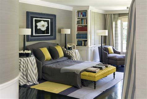 Yellow And Grey Bedroom Decor Ideas by Grey And Yellow Bedroom For A Charming Decoration Traba