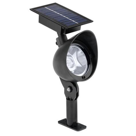 malibu solar plastic flood landscape light with three