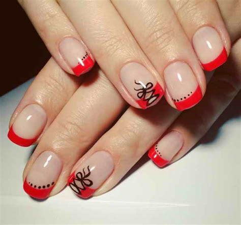 50 модных идей красного французского маникюра френча . фото . PinkNails сайт о маникюре и другой красоте