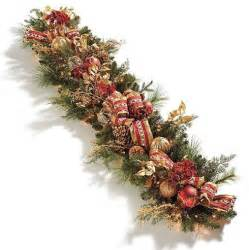 plaza pre lit christmas garland christmas decor traditional holiday decorations by frontgate