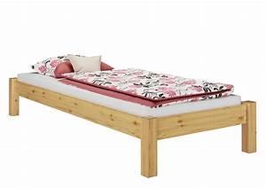 Bett 100 200 Cm : bett kiefer massiv futonbett jugendbett stabil 100x200 cm mit rollrost ebay ~ Indierocktalk.com Haus und Dekorationen