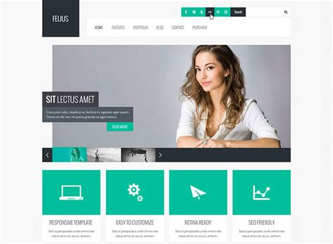 90 Best Business Website Templates 2013