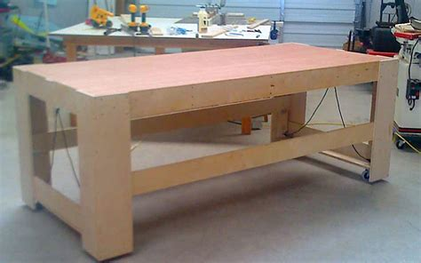 rolling work table plans  woodworking