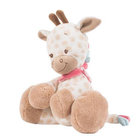 plaid la girafe plaid enfant beige et peluche girafe