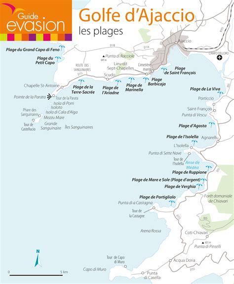 Carte Des Plages De by Les Plus Belles Plages Du Golfe D Ajaccio Le Evasion