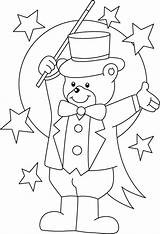 Circus Coloring Pages Colouring Bear Printable Ringmaster Clown Magician Theme Carnival Sheets Teddy Preschool Crafts Activities Animal Para Printables Lion sketch template