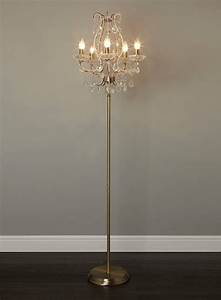 Add glamor to your home with floor lamp chandelier