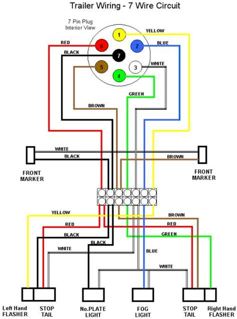 Trailer Wiring Diagram 7 Wire Circuit by Trailer Wiring Diagrams Offroaders