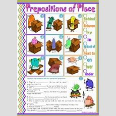 Prepositions Of Place • 2 Simple Tasks For Beginners • Editable