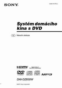 Sony Dav Dz830w Home Theater Download Manual For Free Now