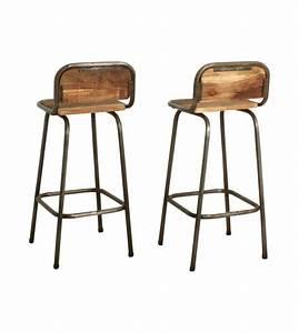 Chaise De Bar Bois : tabouret de bar bois metal vintage people ~ Dailycaller-alerts.com Idées de Décoration
