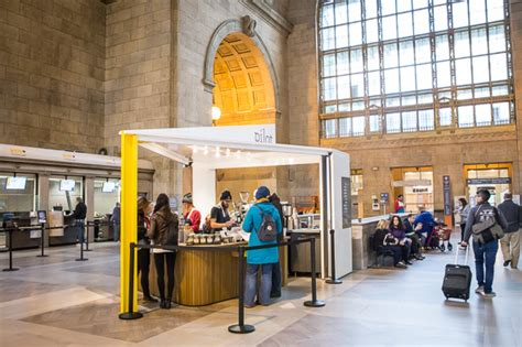 The new pilot coffee roasters caf in downtown toronto's manulife centre williamson williamson inc. Pilot Coffee (Union Station)