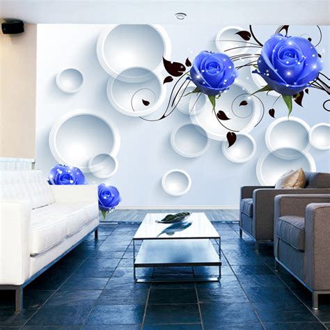 3458 modern blue wallpaper beibehang customize any size 3d wallpaper 3d living room