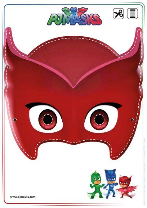 pj masks template printables pj masks owlette gekko catboy masks all wants