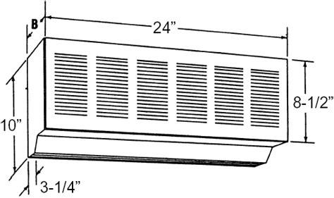 qmark 24 inch air curtain drive thru window unit