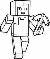 Minecraft Coloring Pages Steve sketch template