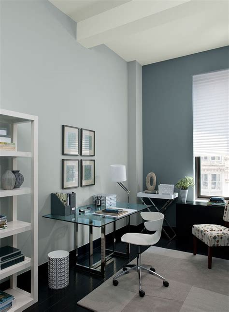 colour  room benjamin moore gray home offices blue