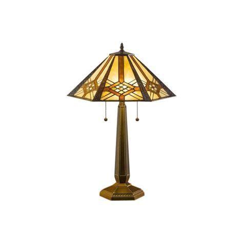 illumine 25 in bronze table l with amber tiffany cli