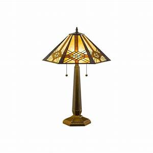 serena d39italia 25 in height tiffany hex mission bronze With mt 8 table lamp