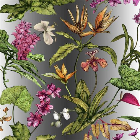 botanical print fabric tropical hothouse botanical print fabric by terrarium designs notonthehighstreet com