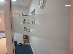 Frosted vinyl banding with letters knocked-out clear ...