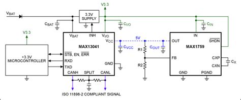 Can Bu Node State Diagram by Achieve Iso 11898 2 Compliant 5v Hs Can Communication From