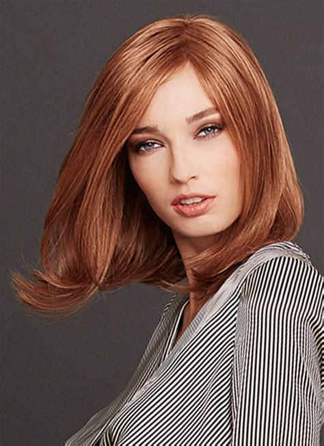 medium straight human hair lace front bob wigs