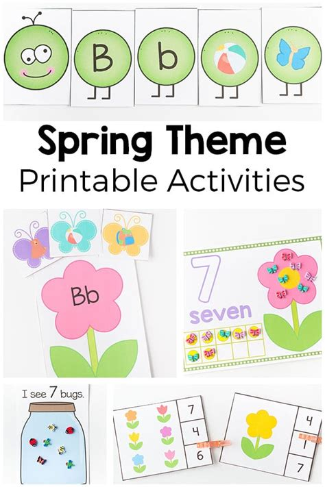 theme printables and activities for preschool and 433 | Spring Theme Printables Pin
