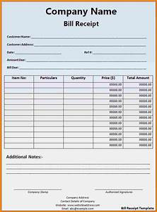 11 billing receipt template free simple bill With bill receipt template