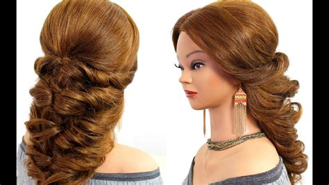 Easy Wedding Prom Hairstyle For Long Hair Tutorial