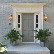 Front Door Paint Colors For Brick Homes by New House Exterior Color Scheme Sherwin Williams Gray Screen Brick And Ear