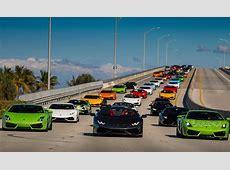 BullFest Miami 2016 Lamborghini Gathering and Drive