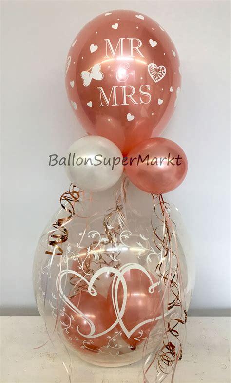 geschenk im ballon hochzeit luftballon geschenk