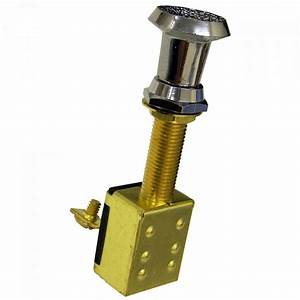 Brass 2 Position Push  Pull Switch 25a   11 95
