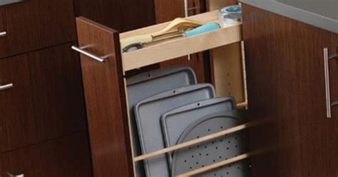 easy view cabinet organizers tray and baking pan storage upright tray storage is ideal