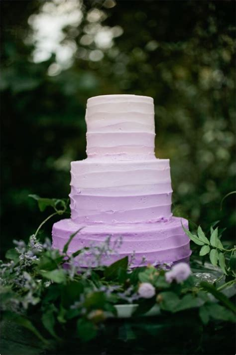 lavender purple ombre wedding cake