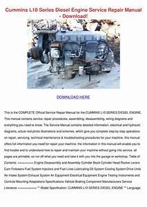 Cummins L10 Series Diesel Engine Service Repa By