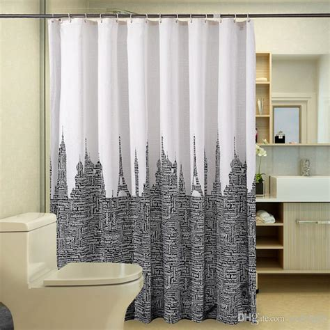 modern letters tower shower curtain bathroom product