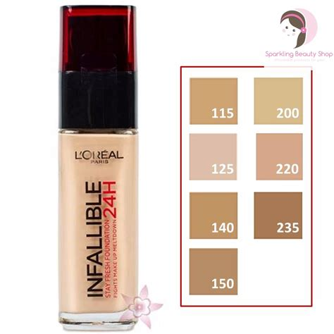 bedak loreal infallible l 39 oreal infallible stay fresh 24h liquid foundation