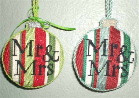 making  needlepoint ornament easy  finish