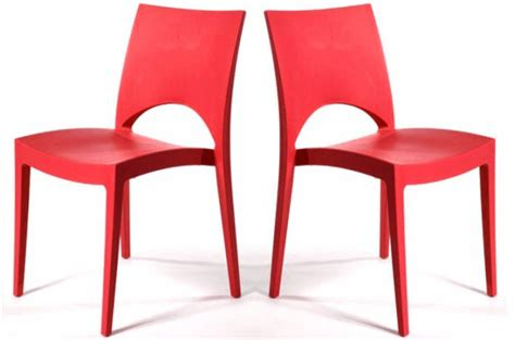 lot de 2 chaises design rouges delhi design en direct de l