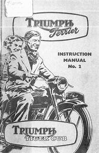 Triumph Terrier    Tiger Cub Instruction Manual  2