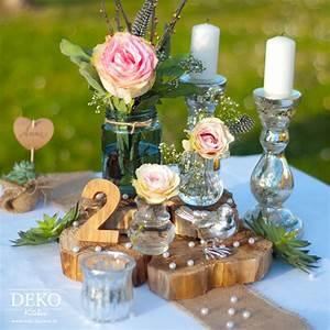 Tischdeko Geburtstag Rustikal : diy romantisch rustikale hochzeitsdeko selber machen mit deko kitchen deko kitchen ~ Watch28wear.com Haus und Dekorationen