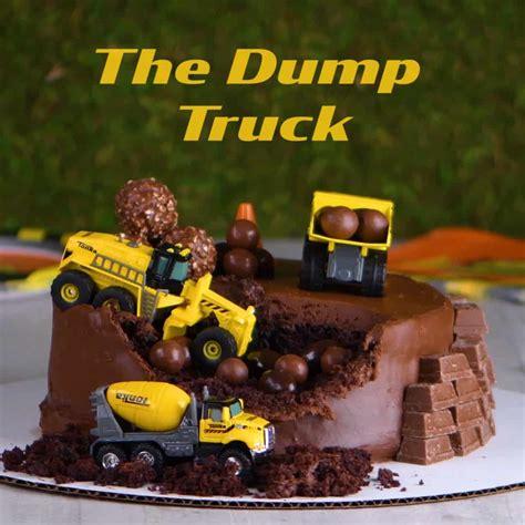 dump truck cake decoration ideas  yummy
