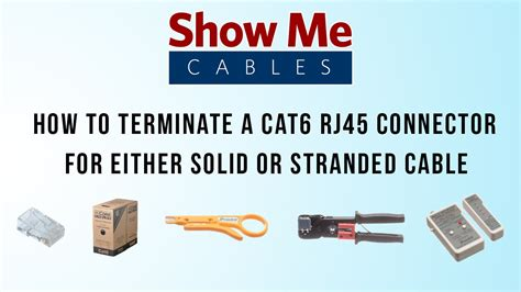 how to terminate a cat6 rj45 connector for either solid or stranded cable 547