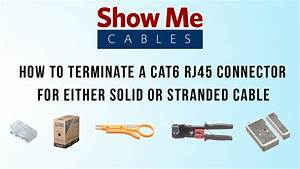 How To Terminate A Cat6 Rj45 Connector For Either Solid Or