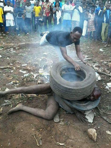 nigerian businessman burnt  death  togo  pregnancy