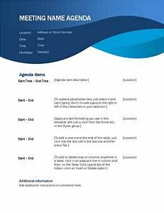 Blue Curve Meeting Agenda