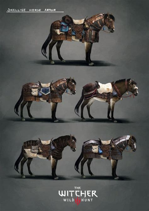 witcher horse armor concept dettlaff guerra skellige marta fantasy caballos armour wild caballo hunt sets character dessin artstation arte rpg